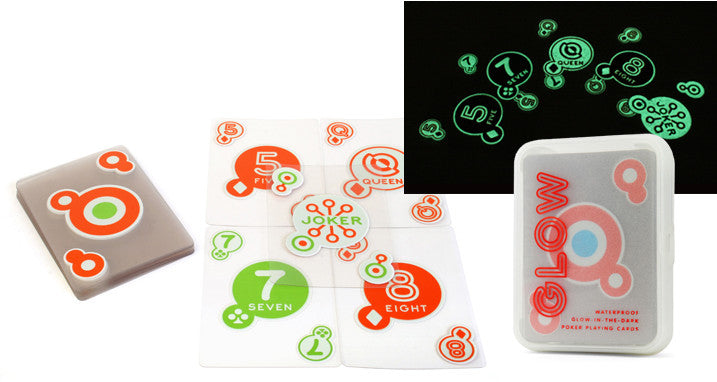Deck of 52 Invisible Glow in the Dark Poker Playing Cards