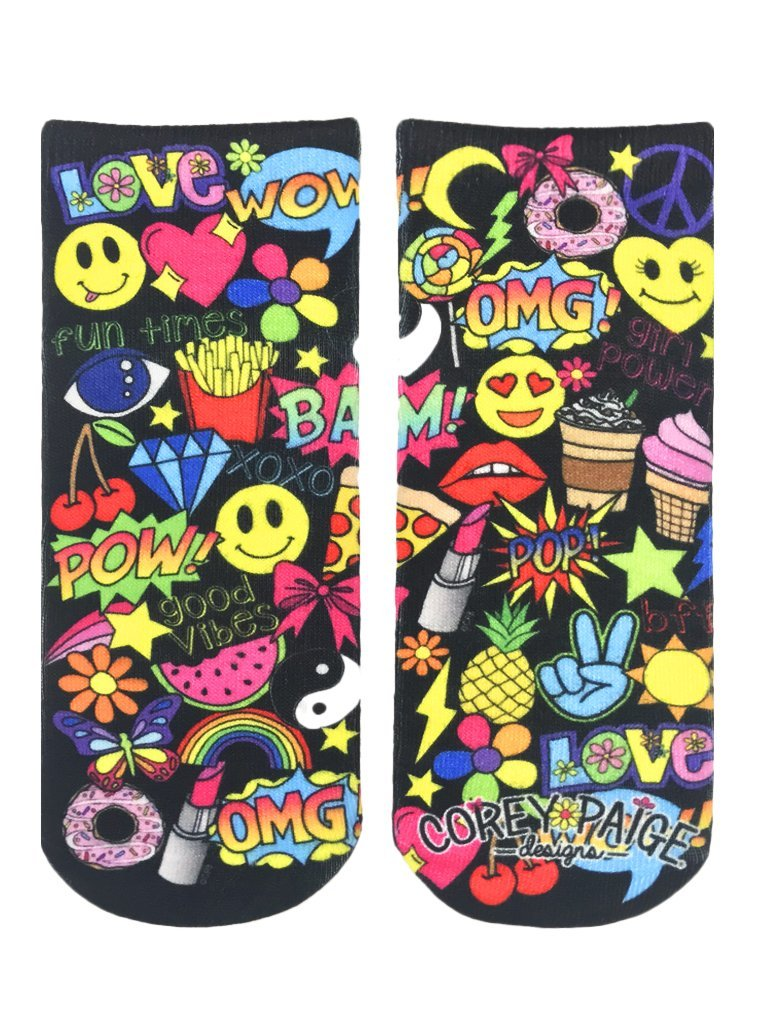 Girl Power Ankle Socks OSFM by Living Royal