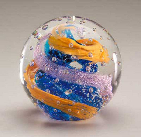 Glow in the Dark 3.25 Inch Paperweight Globe- Blue Swirl - Off The Wall Toys and Gifts