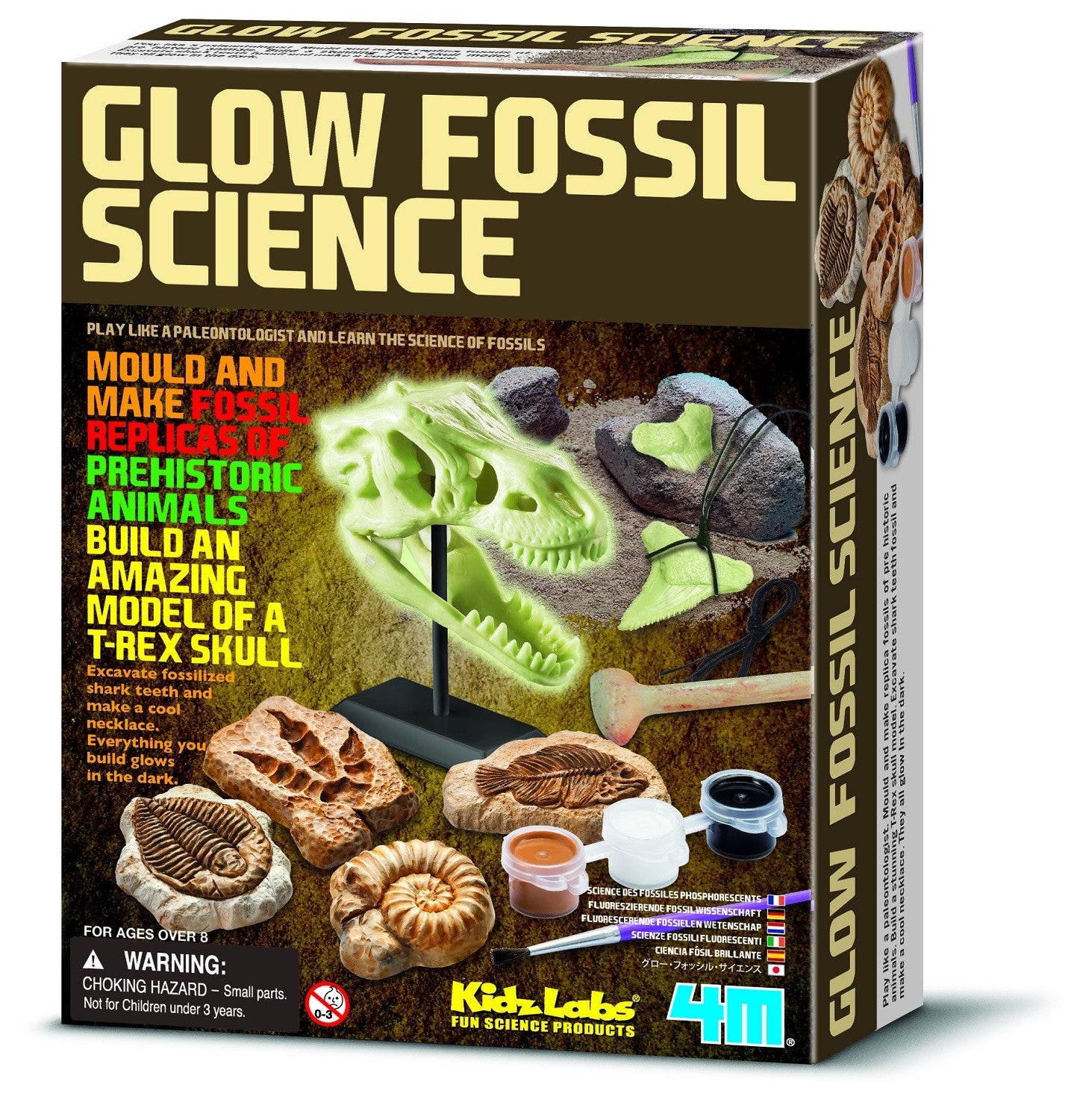 Glow Fossil Science - Glow in the Dark Fossil Paleontology Kit - Off The Wall Toys and Gifts