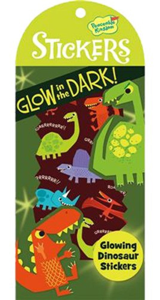 Glowing Dinosaur - Glow in the Dark Stickers