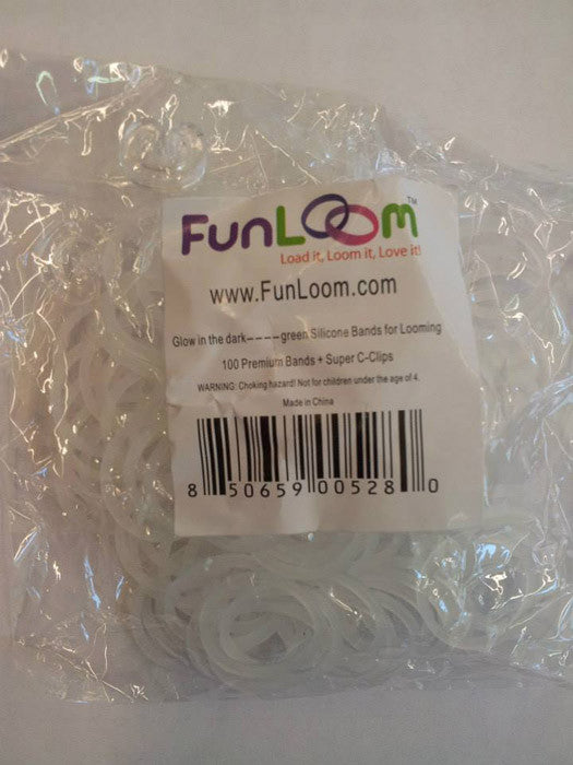 FunLoom Silicone Bands - Glow In The Dark Green - Off The Wall Toys and Gifts