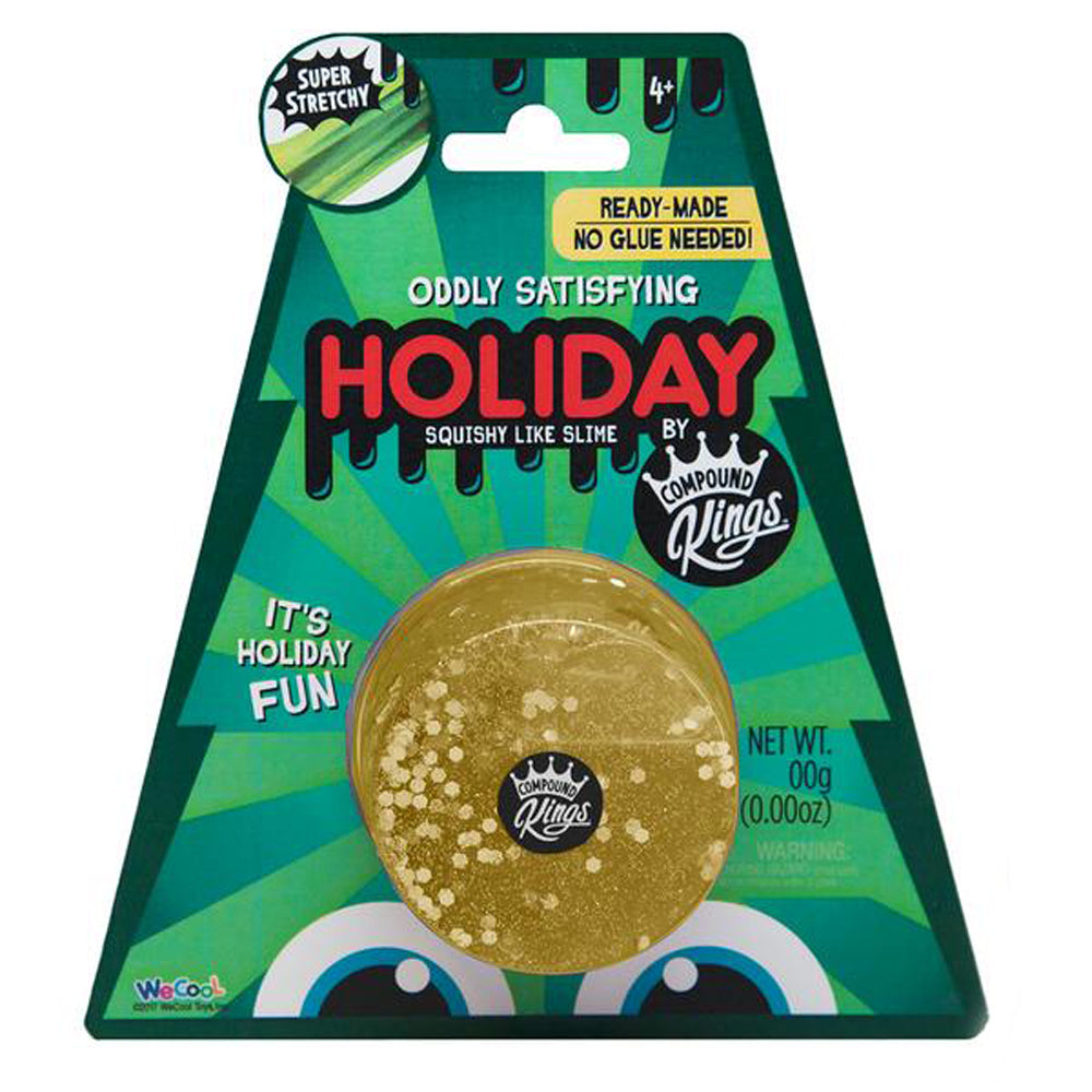 Holiday Glitzi Gold Oddly Satisfying Squishy Like Slime by Compound Kings