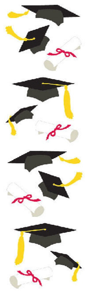 Mrs Grossman's Stickers - Graduation Hats & Diplomas - Off The Wall Toys and Gifts