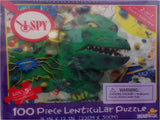 I SPY Green Monster - 3D Lenticular Puzzle & Riddle Game - 100 Pieces - Off The Wall Toys and Gifts