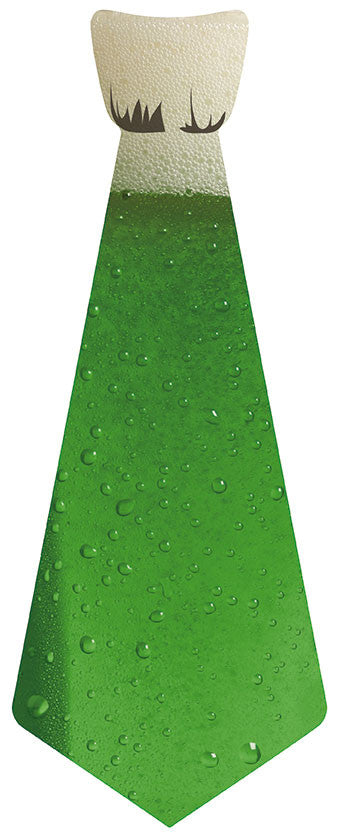 EvREwares Sticky Tie Green Beer Wearable Fabric Stickers
