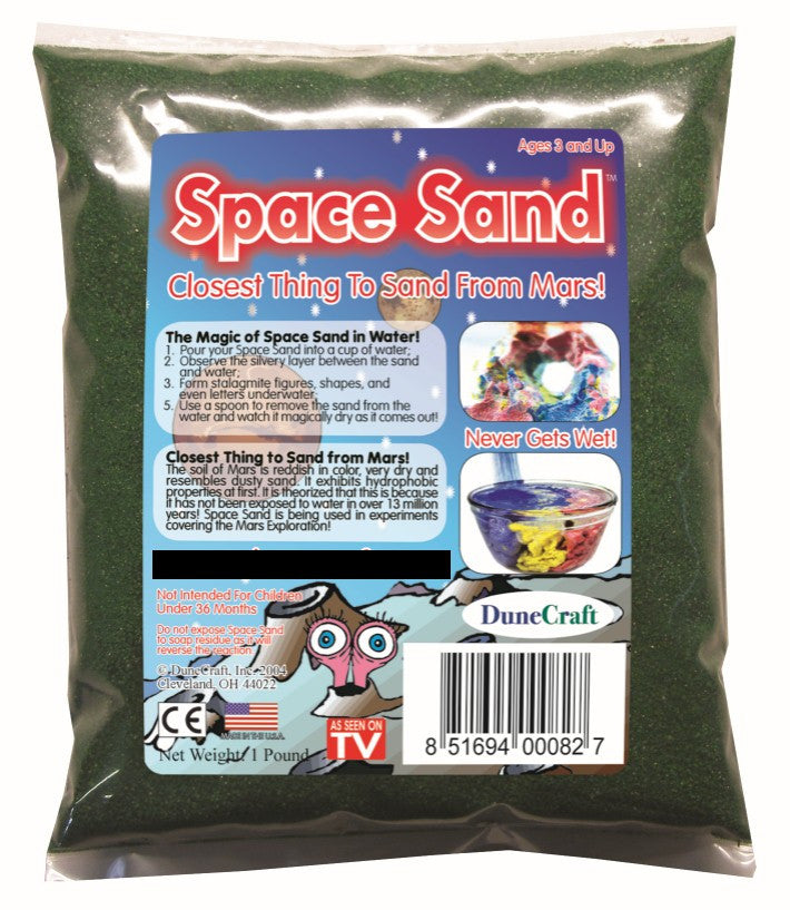 Green Space Sand: 1lb of Hydrophobic Sand - Off The Wall Toys and Gifts