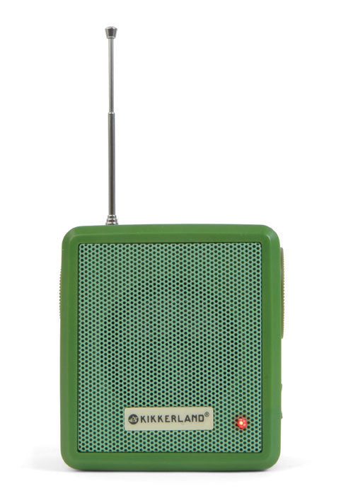 Hand Crank Solar Radio Green By Kikkerland - Off The Wall Toys and Gifts