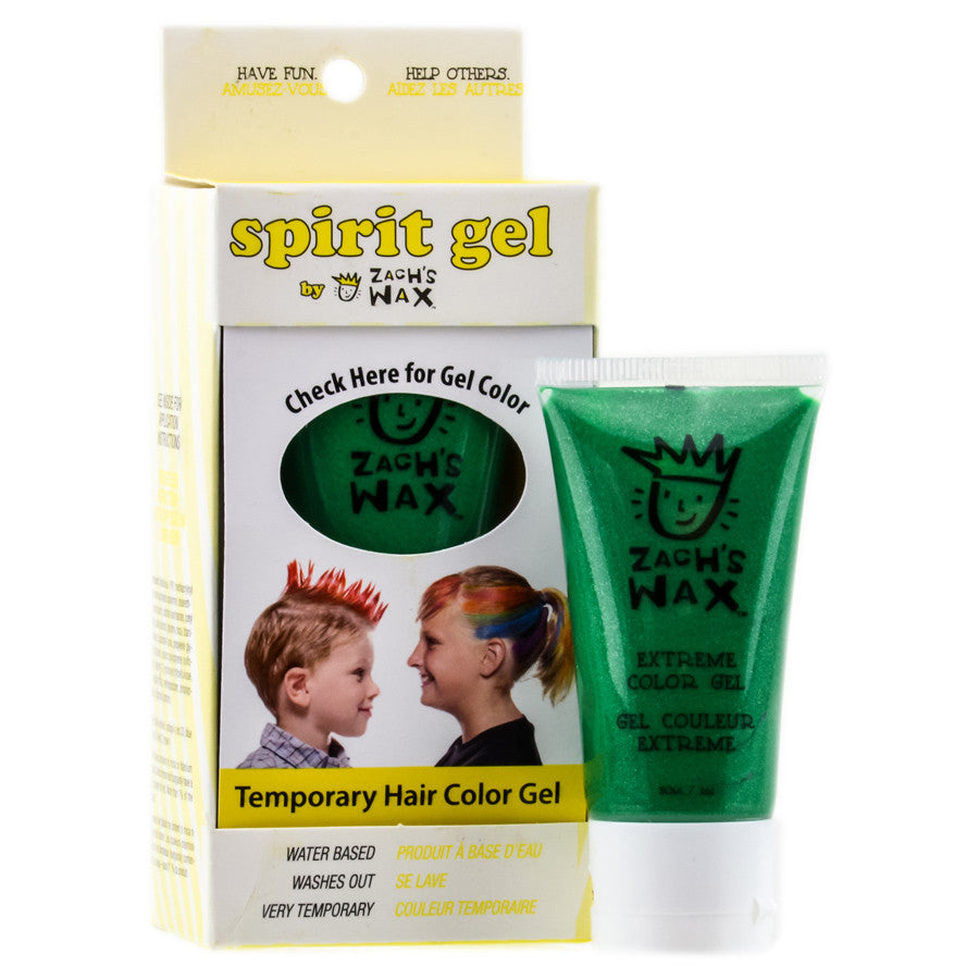 Zach's Wax Temporary Hair Color Gel - Green