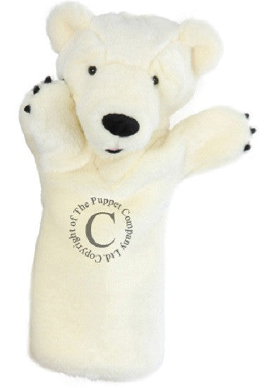 Long Sleeved - 15 Inch Glove Puppet - POLAR BEAR - Collectible Hand Puppet Character - Off The Wall Toys and Gifts