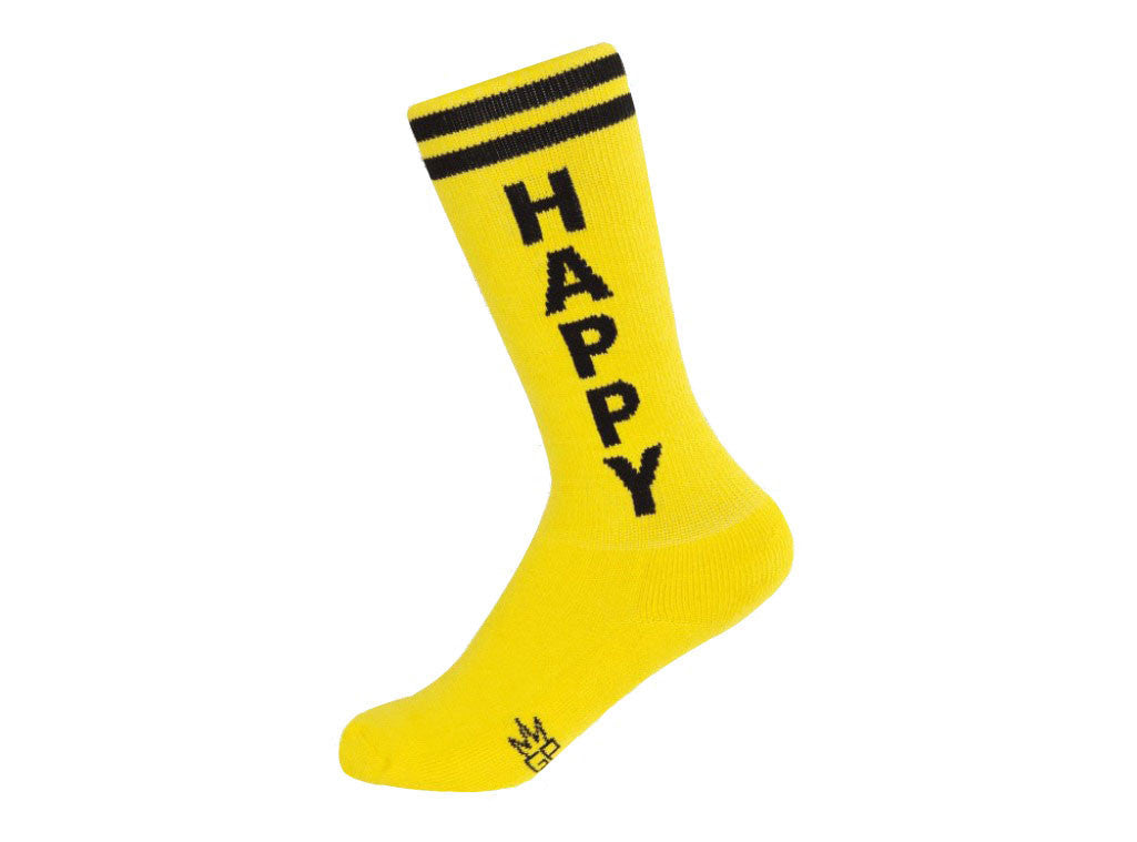 Happy Socks - Kids Yellow and Black Unisex Knee High Socks - Off The Wall Toys and Gifts