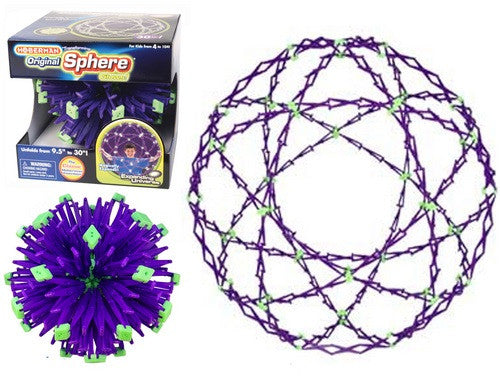 Expanding Universe Hoberman - Large Transforming Sphere - Glow in the Dark - Off The Wall Toys and Gifts