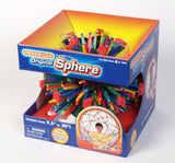RAINBOW Hoberman Sphere  Expands 9.5 to 30in  Polyhedral Toy - Off The Wall Toys and Gifts