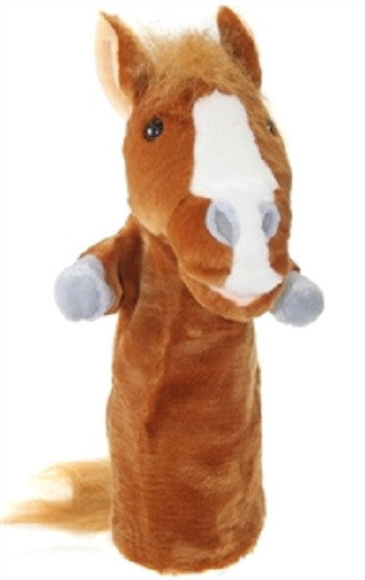 Long Sleeved 15 Inch Glove Puppet - HORSE - Collectible Hand Puppet Character - Off The Wall Toys and Gifts