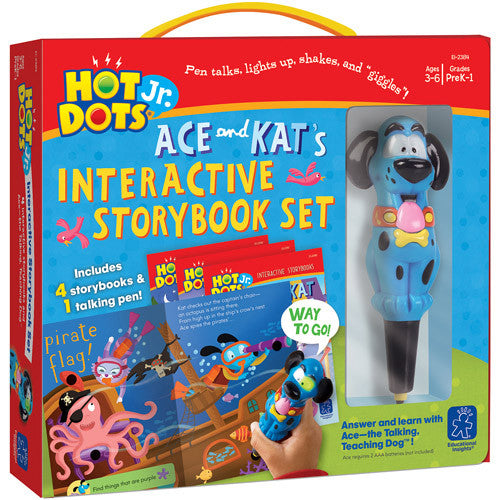 Hot Dots Jr. - Ace & Kats Interactive Storybook Set  With Talking Pen; Plays Sound Effects