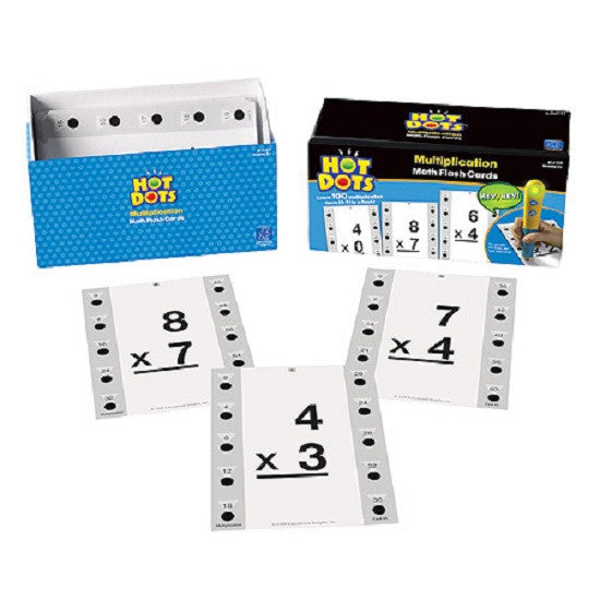 Hot Dots Multiplication Flashcards Kit - Grade 2+