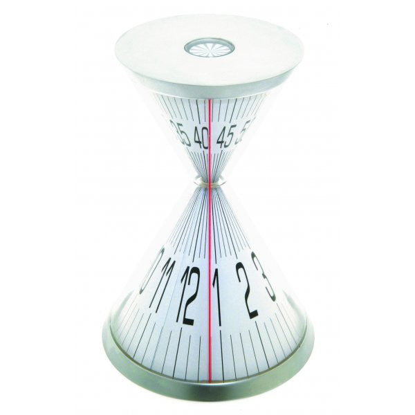 Hourglass Desk Clock Metal and Acrylic