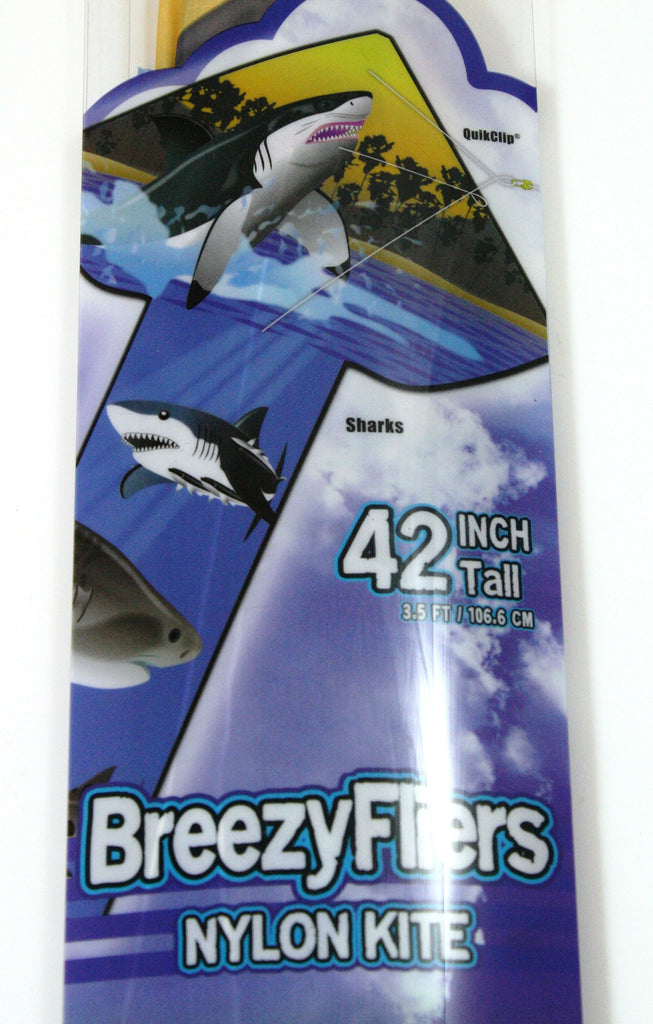 42 Inch Tall Wind 'n Sun BreezyFliers Shark Kite