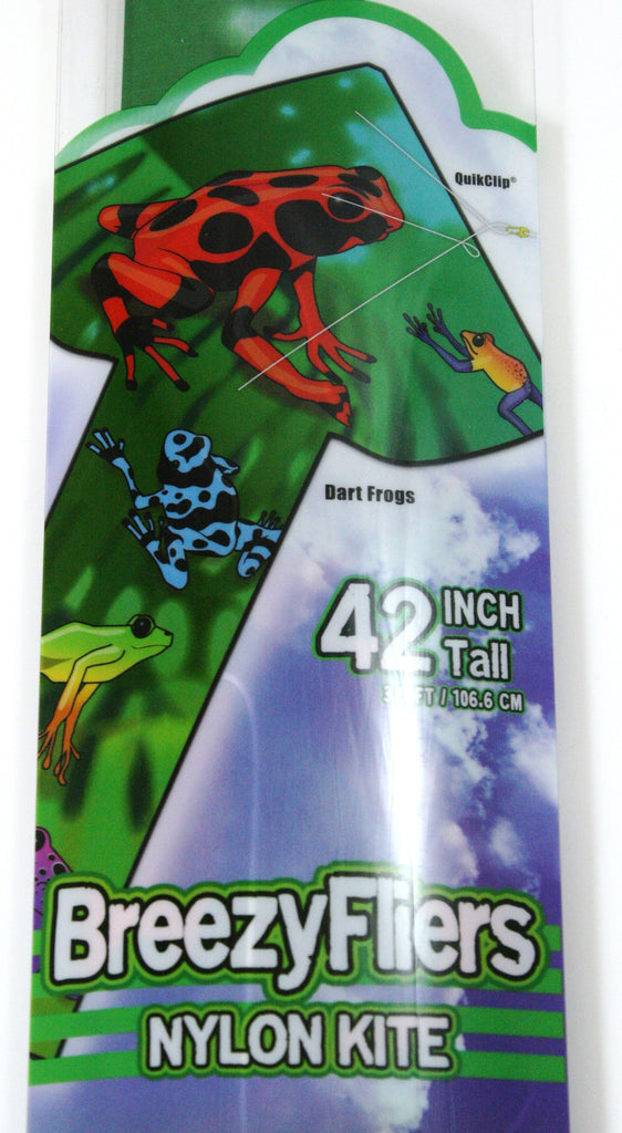 42 Inch Tall Wind 'n Sun BreezyFliers Dart Frogs Kite