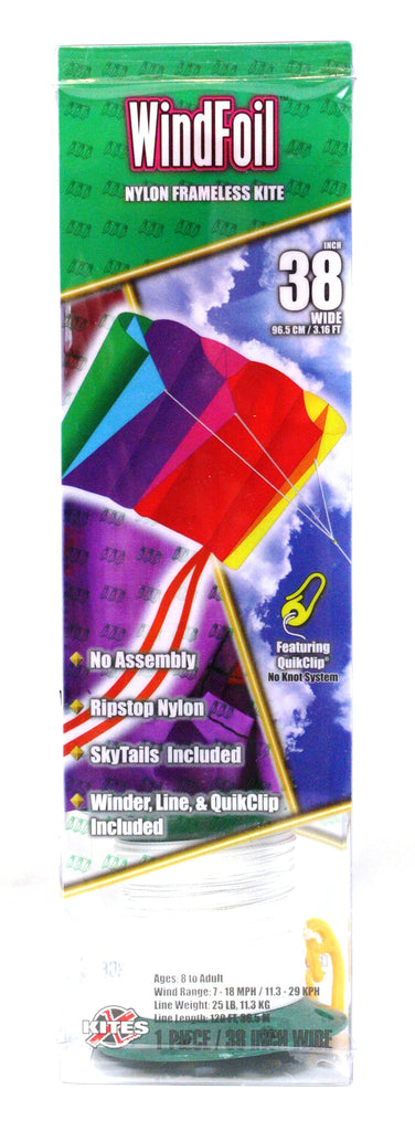 "38"" Windfoil Frameless Ripstop Nylon Kite by X-Kites - Rainbow"