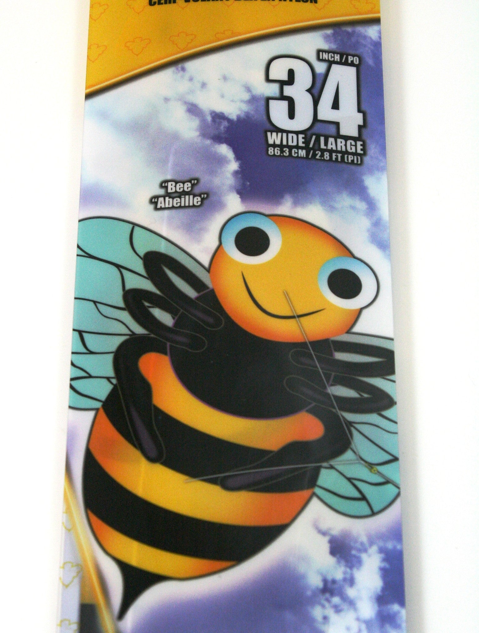 34 Inch X-Kites SkyBugz Bumble Bee Kite w/Handle & Line - Off The Wall Toys and Gifts