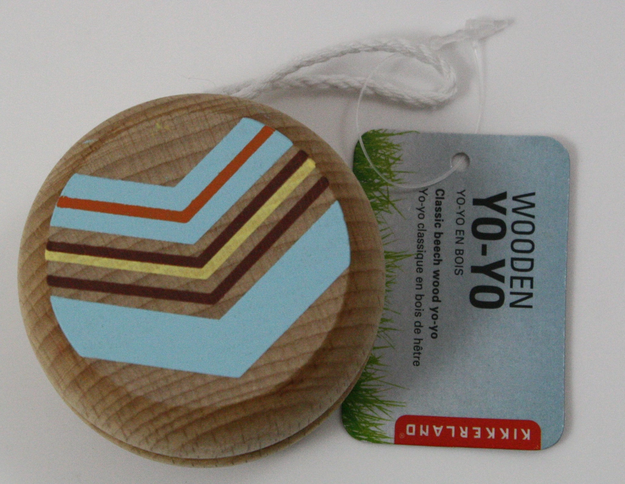 Classic Beech Wood Wooden Yo-Yo by Kikkerland - Assorted Colors - Off The Wall Toys and Gifts
