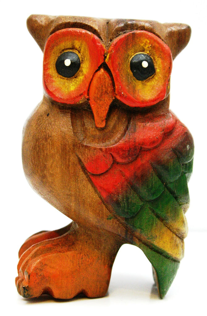 Wooden Hooting Owl Whistle Instrument