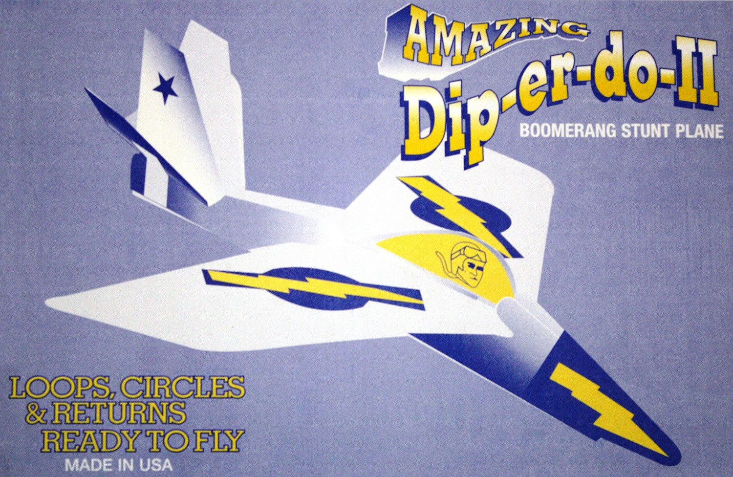 Dip-er-do II Boomerang Stunt Plane - Single Airplane - Off The Wall Toys and Gifts