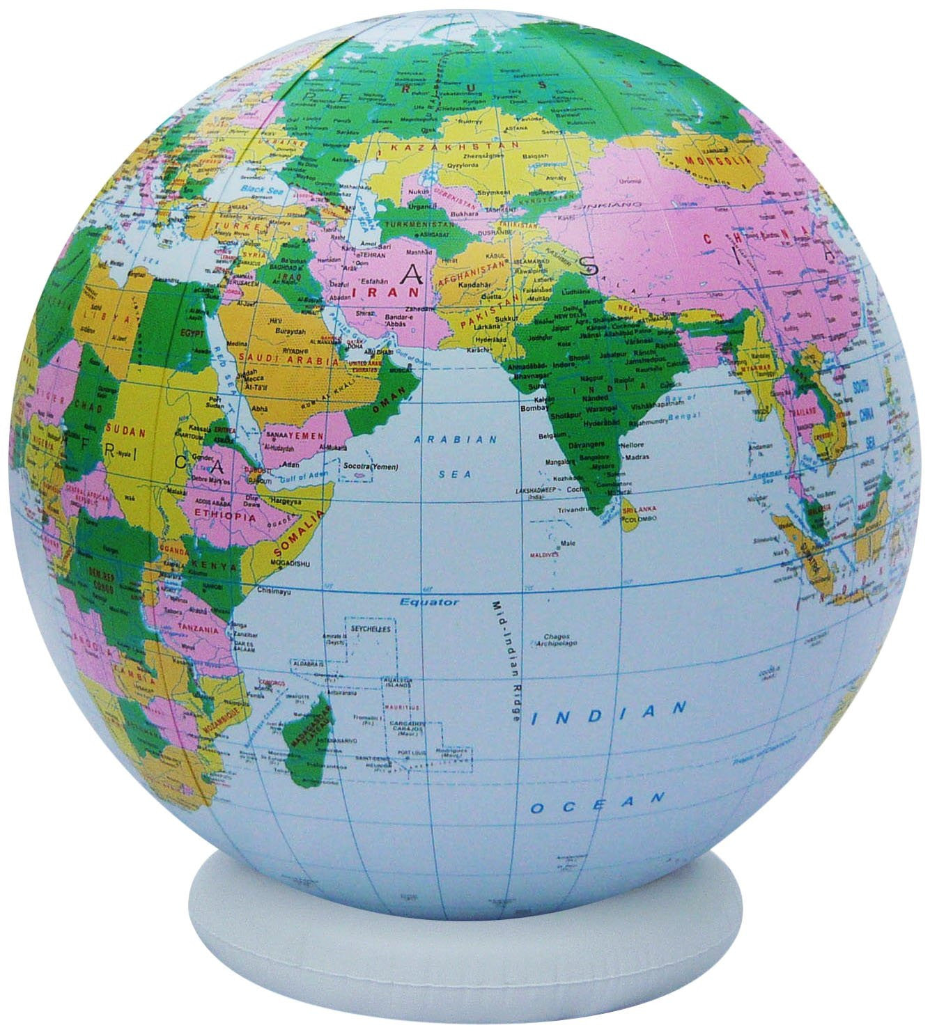 36 Inch Inflatable Political Globe with Base - Off The Wall Toys and Gifts