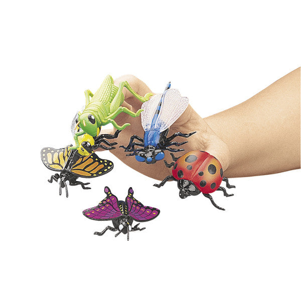 Pack of 12 Insect Finger Puppets - Off The Wall Toys and Gifts
