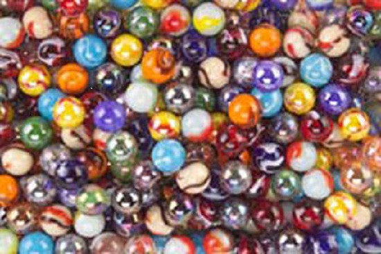 500 Count Bulk Assorted Premium Player Glass Mega Marbles