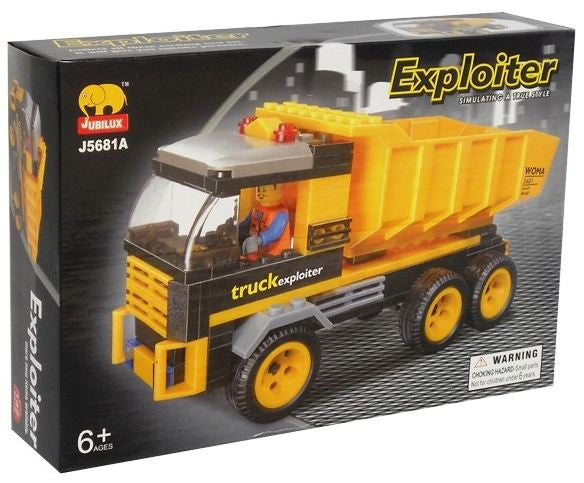 Dump Truck BricTek Building Block Set - 142 Pieces - Off The Wall Toys and Gifts