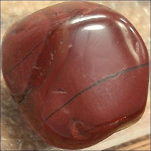Jasper Gemstone Rock Brecciated Tumbled 1/2-1 1/2 inch w Info Card - Off The Wall Toys and Gifts