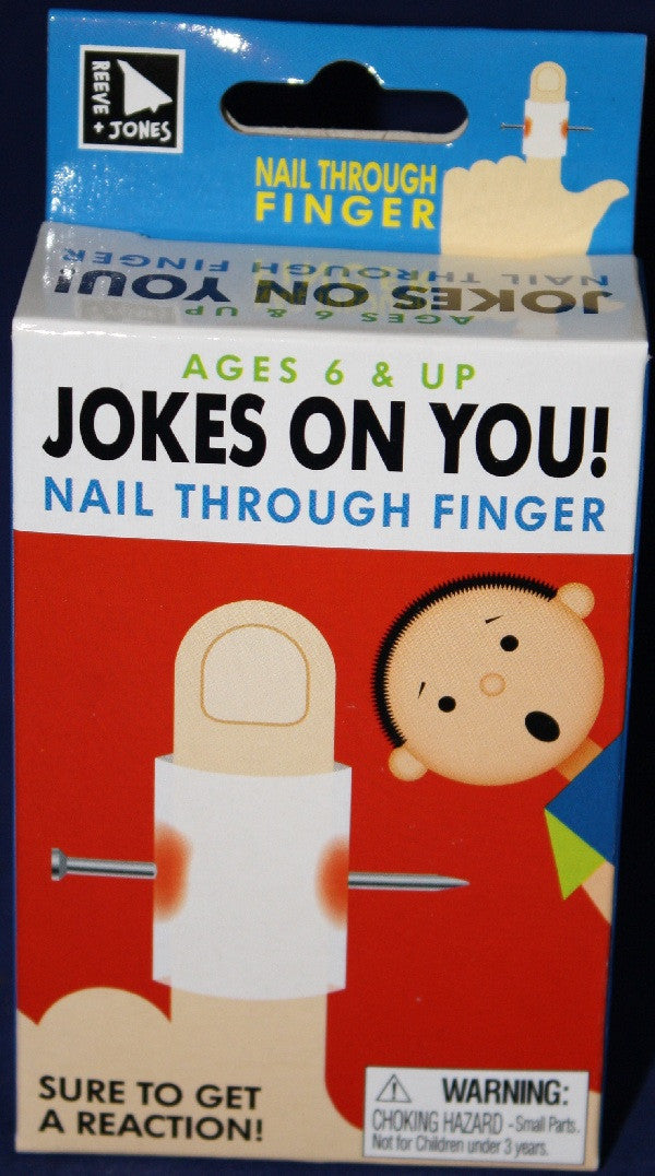 Jokes On You: NAIL THROUGH FINGER Prank - Off The Wall Toys and Gifts
