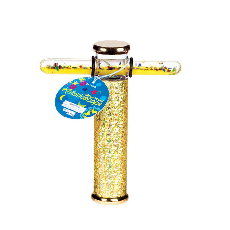 6 Inch Glitter Wand Kaleidoscope Colors Vary - Off The Wall Toys and Gifts