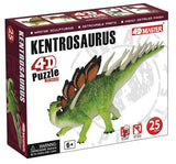 4D Kentrosaurus Dinosaur Model 25 Piece Puzzle Realistic Detail - Off The Wall Toys and Gifts
