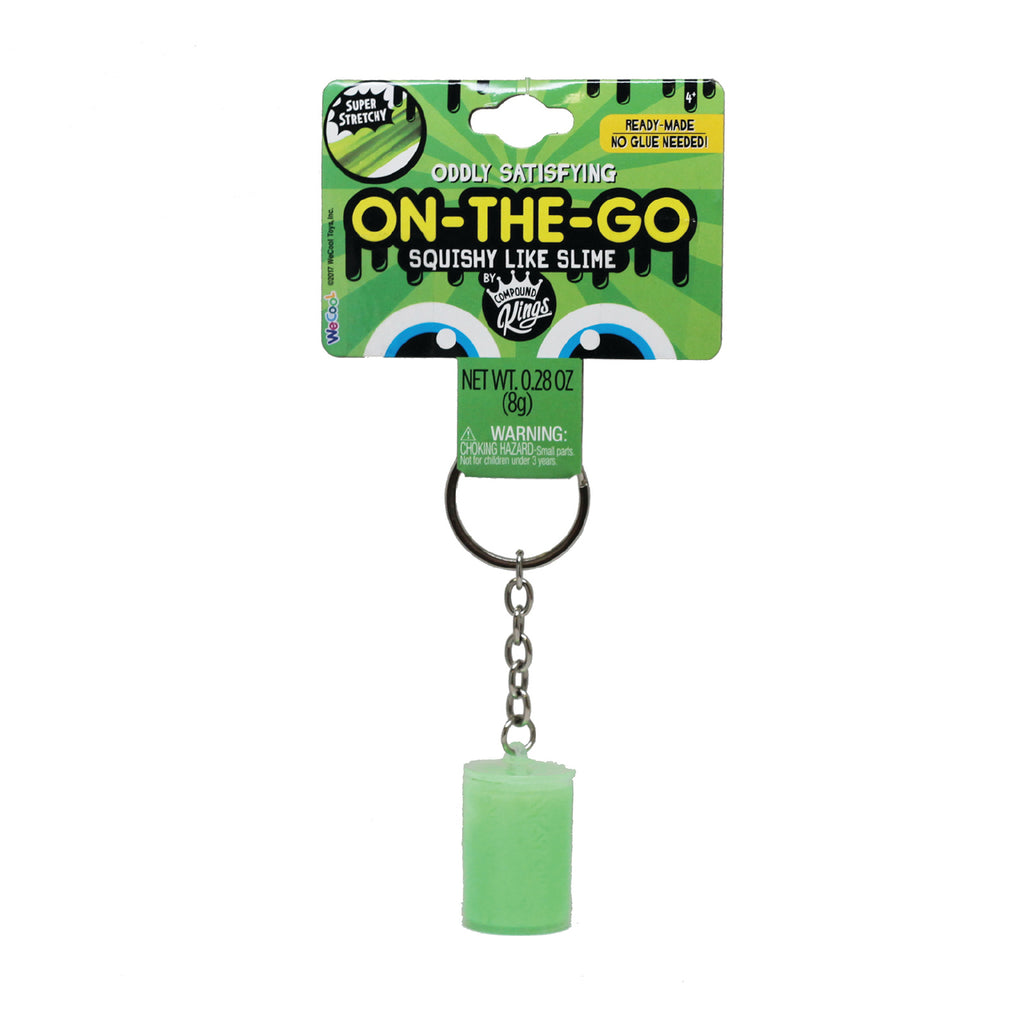 On-The-Go Squishy Like Slime Green Keychain Container by Compound Kings
