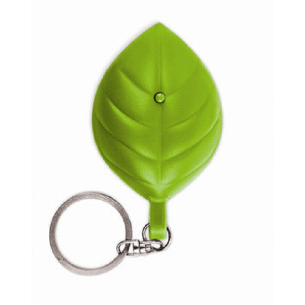 Leaf Shaped Solar Flashlight Key Chain Green Energy Light by Kikkerland - Off The Wall Toys and Gifts