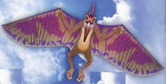 WindnSun DinoSoars Pterodactyl Nylon Kite - 64 Inches Dinosaur Kite