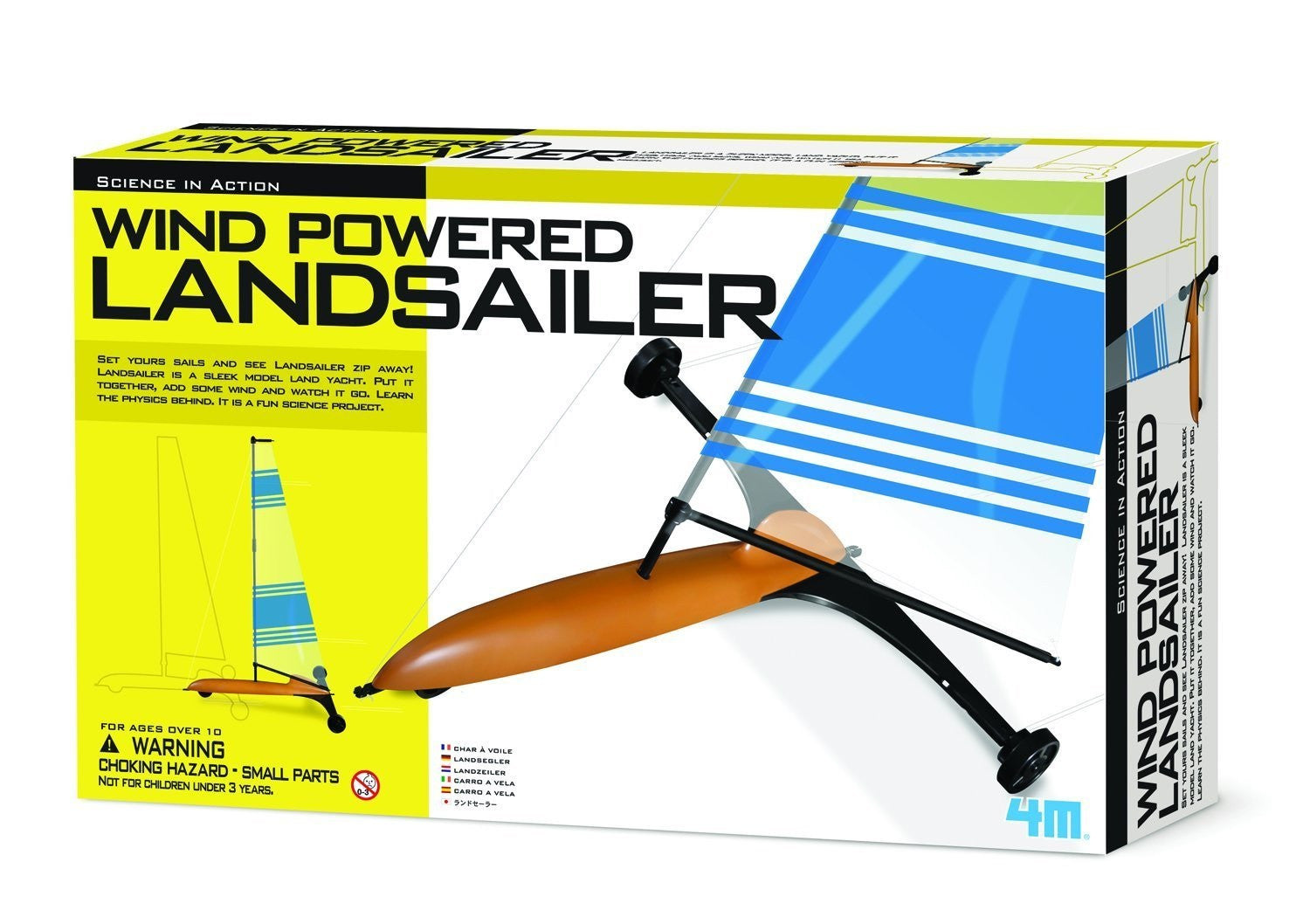 4M Wind Powered LandSailer; Green Science - Off The Wall Toys and Gifts