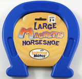 Plastic Encased Large Magnetic Horseshoe  7.5 x 7.5 Inches -BLUE - Off The Wall Toys and Gifts