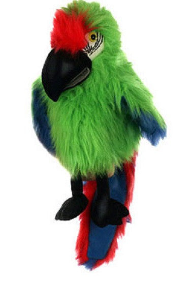 Large Bird - Military Macaw Puppet w Squawk Voice - Off The Wall Toys and Gifts