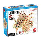 4D Master Lion Fish Model 15 Piece Puzzle Realistic Detail - Off The Wall Toys and Gifts