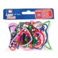 Chicago Cubs MLB licensed Logo Bandz Rubber Bands 20pk - Off The Wall Toys and Gifts