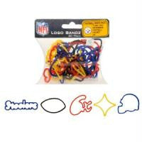 Pittsburgh Steelers NFL licensed Logo Bandz Rubber Band Bracelets 20pk - Off The Wall Toys and Gifts