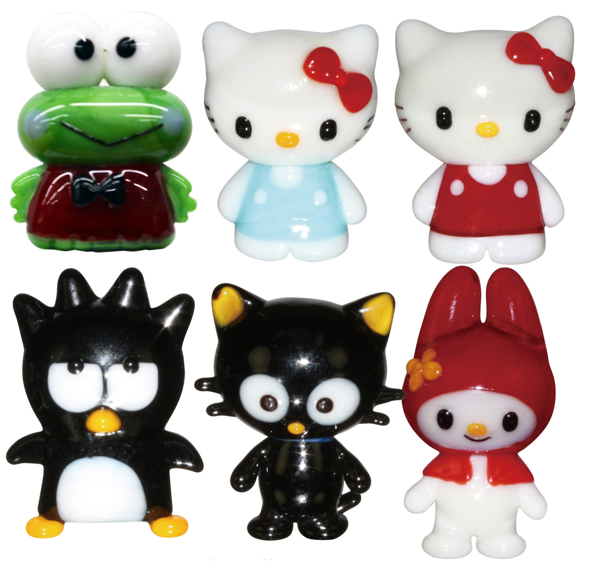 Looking Glass Torch - Hello Kitty Character Assortment 6 Different Miniatures - (6-Pack) - Off The Wall Toys and Gifts
