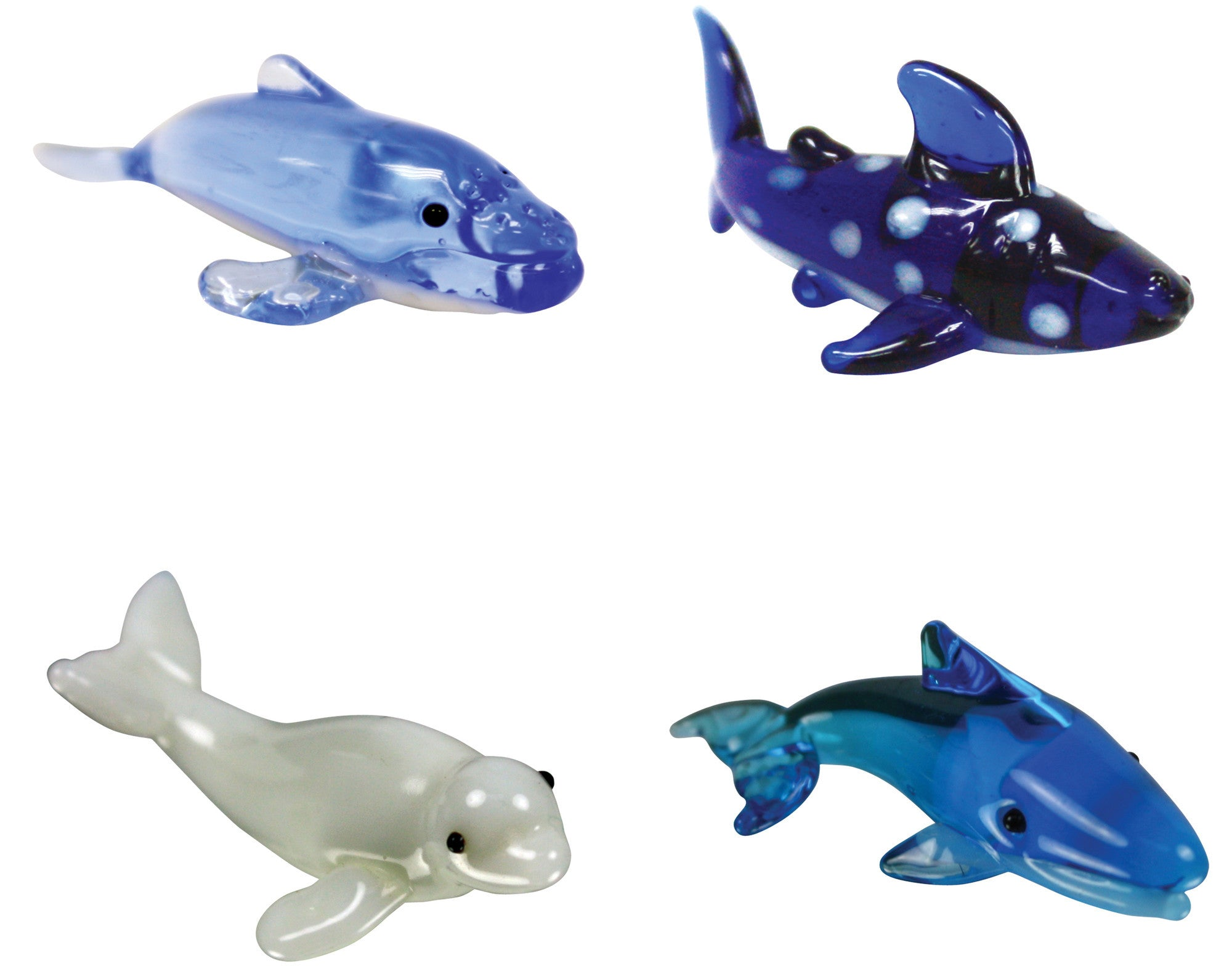 Looking Glass Torch - Ocean Figurines - 3 Different Whales & a Whale Shark(4-Pack) - Off The Wall Toys and Gifts