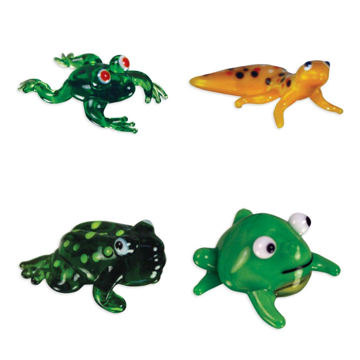 Looking Glass Torch - Reptiles - Froggy, Gecko & 2 Different Toads (4-Pack) - Off The Wall Toys and Gifts