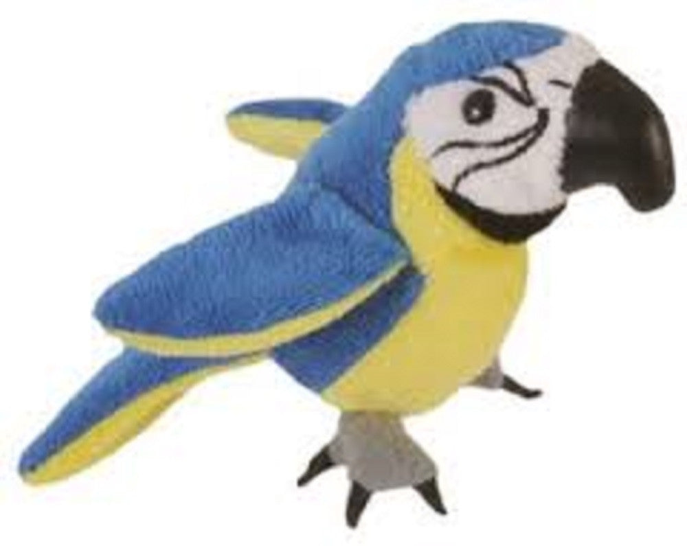 Blue & Gold Macaw Finger Puppet - Off The Wall Toys and Gifts