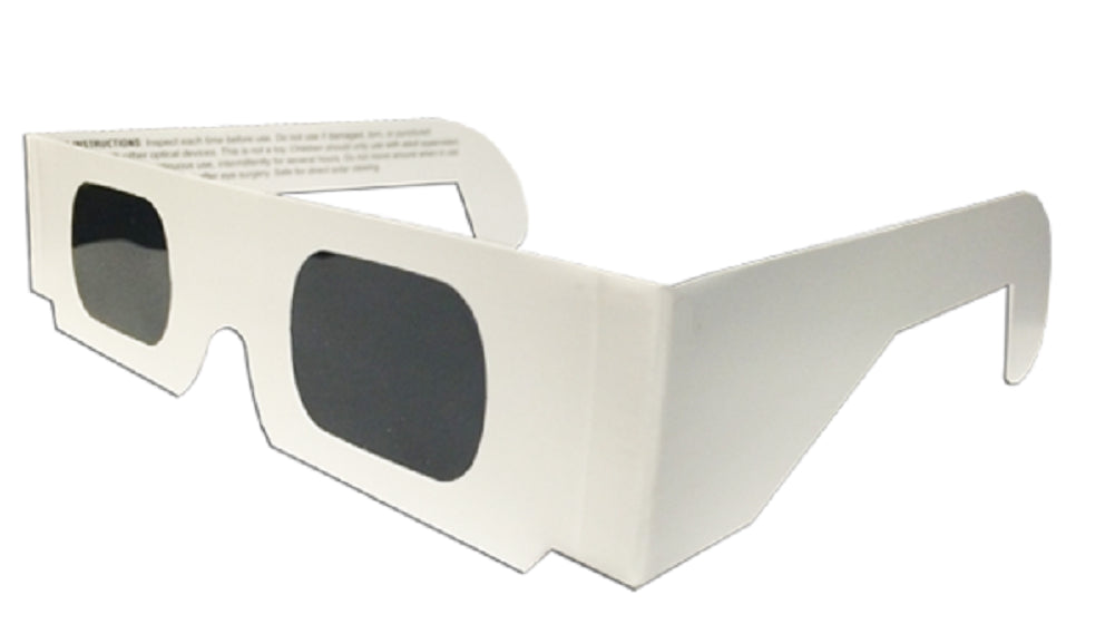 The Eclipser Safe Solar Eclipse Viewing Glasses CE Certified, w/White Frame - 30 Pack